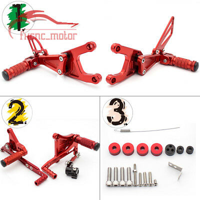 FXCNC CNC Footrest Rear Sets Rearset Foot Pegs For Benelli TNT125 135 17-18 Red