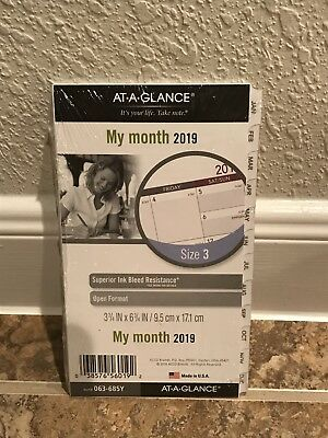 At-A-Glance Planner Refill 2019 Size 3 Jan Dec Monthly Traditional White Tabbed
