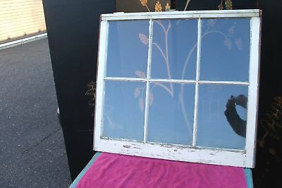 Early 6 Pane Glass Window Vintage Antique Time Worn Farmhouse Modern Chic Large