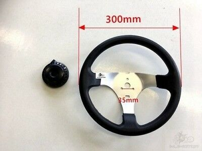 Race Go kart steering wheel 3 stud traditional Circle with cover buggy go kart