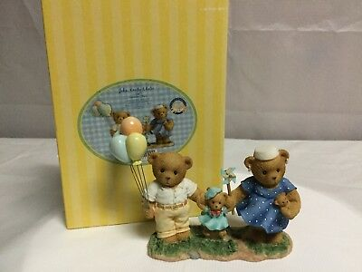 """Enesco Cherished Teddies """"John, Emily & Katie"""" Mother, Father and daughter"""