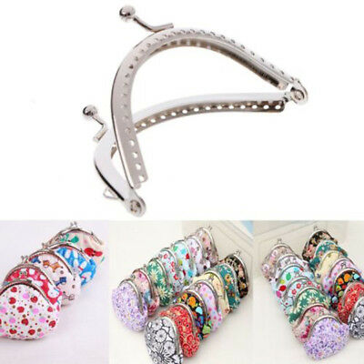 8.5cm Silver Handle Sewing Purse Frame For Handbag Coins Bags Metal Kiss Clasp