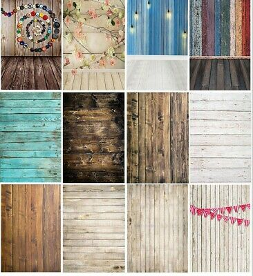 3X5/5X7FT Retro Wood Board Wall Background Plank Photo Backdrop Photography Prop