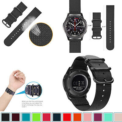 For Samsung Gear S3 Classic Frontier / Galaxy Watch 46mm Bands Nylon Sport Strap