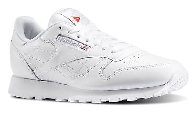Reebok Classic Leather White, Light Grey Mens Running Tennis Shoes Item 9771