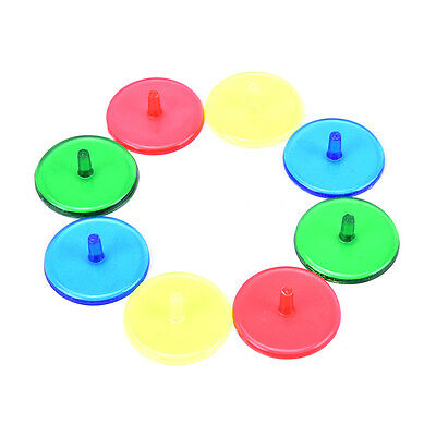 100x Plastic Assorted Golf Ball Position Marker Dia 24mm Golf Games Accessory EO