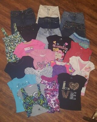 Girls summer clothes/size 10/10-12/large lot/21 piece/Justice/old navy/Bee Bop