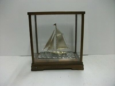 The sailboat of Silver of Japan. #40g/ 1.41oz. Japanese antique