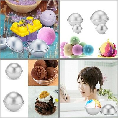 16pcs 8 Set 3 size DIY Mold Sphere Bath Bomb Fizzy Crafting Cake Candle Mould