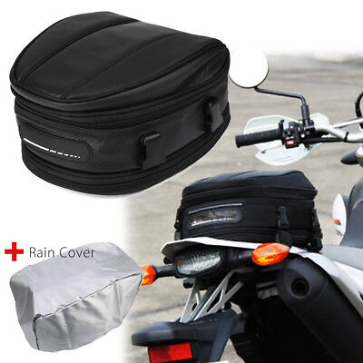 Motorcycle Touring Rear Pillion Seat Tail Tank Bag Luggage Expandable