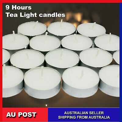 Tea Light Candles 9 Hour 50 pcs Bulk Tealight Candle Tea Lights Tealights White