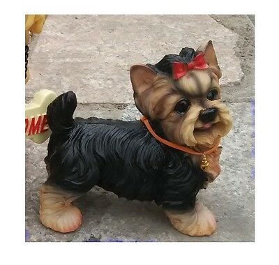 Dogs > YORKSHIRE Yorkie TERRIER  puppy dog resin figure figurine *s   Us un74