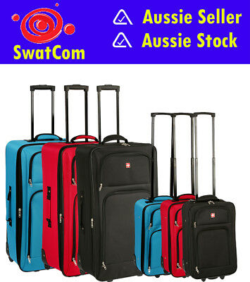 2 Piece Swiss Alps Luggage 78cm & 54cm/Extra Packing Space/Internal Straps