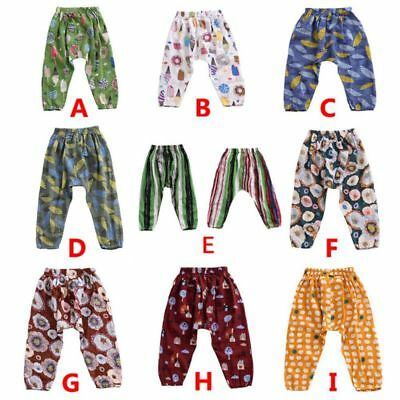 Toddler Kid Girls Boys Cotton Pants Casual Thin Anti-mosquito Long Trousers 2-7Y