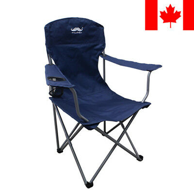 Portable Fishing Camping Chair Seat Cup Holder Beach Picnic Outdoor Folding +Bag