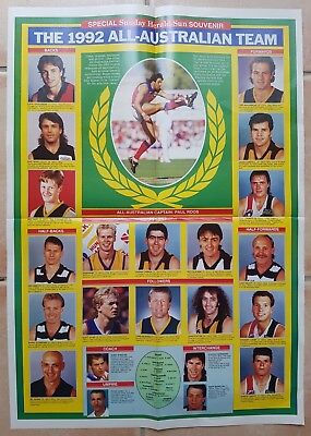 1992 AFL ALL AUSTRALIAN TEAM photo from the Melb. HERALD SUN Mint Condition