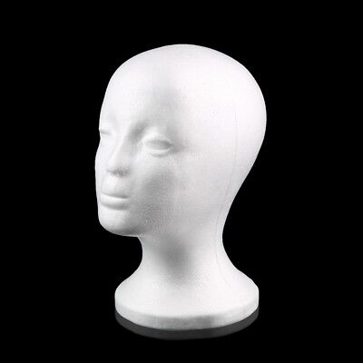 Female Styrofoam Mannequin Manikin Head Model Foam Wig Hair Glasses Display FN