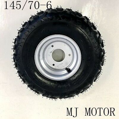 "145/70- 6"" inch Wheel Rim + Tyre Tire 50cc 110cc 125cc Quad Dirt Bike ATV Buggy"