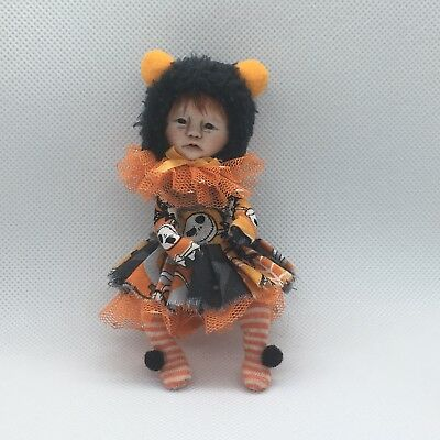OOAK, One Of A Kind Miniature Elfin Halloween Girl *Tabitha* *By Shell