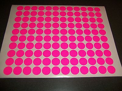 1200 FLUORESCENT NEON PINK Blank rummage garage yard sale stickers labels tags