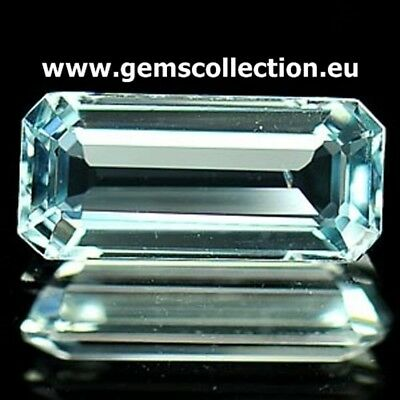 Aaaa - Natural Aquamarine Ct 1.14 Vvs Light Blue Color Octagon Cut Origin Brazil