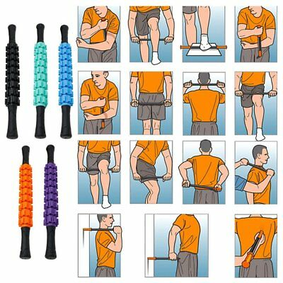 Portable Gear Massage Rod Muscle Relax Roller Muscle Massage Stick Accessories ~