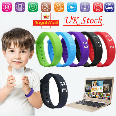 Kids Activity Tracker Watch Fitness Wrist Band Calorie Step Counter Pedometer UK