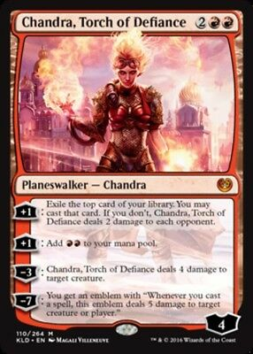 1x Chandra, Torch of Defiance - Kaladesh - NM-Mint, English