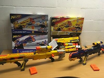 Nerf Longshot Cs-6 Blue Or Yellow New Or Used You Choose