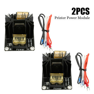 2PCS 3D 30A Printer Heated Bed Power Module High Current Expansion Board 12V-50V