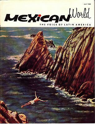 Mexican World The Voice of Latin America July 1968 Mexico Magazine
