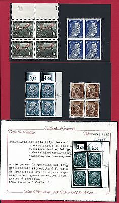 1945 SLOVENIA/SLOWENIEN - n° 1/46+7a+34A Lubiana overmoulded 48 values MNH