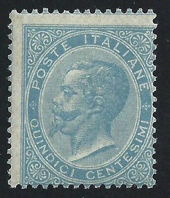 1863 Italy/Italy, n° L18 15 cent. light blue MNH/ Signature A. Diena