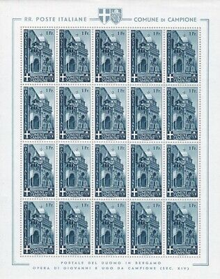 1944 CAMPIONE Issue Province, n° 1/7 Landscapes and views MNH/ SHEETS OF 20