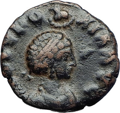 EUDOXIA Arcadius Wife 400AD Authentic Ancient Roman Coin HAND OF GOD i70246