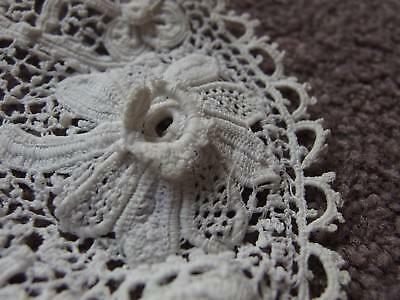 antique Irish crochet lace mat