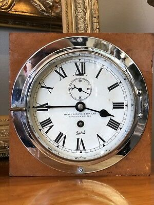 Henry Browne & Sons Ships Clock Marine Salvage