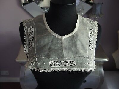 antique embroidered lace collar