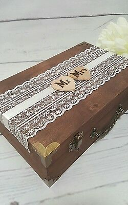 RUSTIC MR MRS Card Box With Cards Banner Wedding Envelope Box Money ...