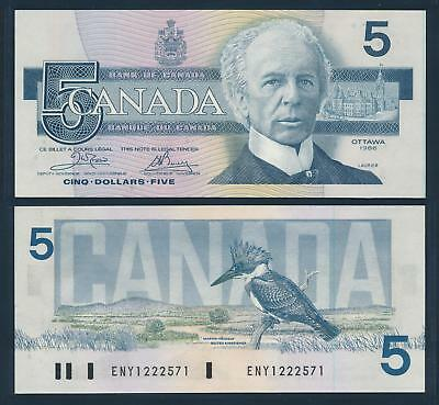 [77351] Canada 1986 5 Dollars Bank Note AUNC P95a1