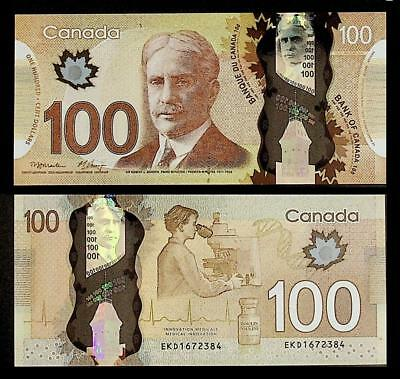 [77366] Canada 2011 100 Dollars Polymer Bank Note UNC P110a