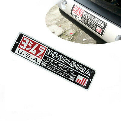 1X Aluminum Heat-resistant Motorcycle Exhaust Pipe Sticker Yoshimura USA Decal