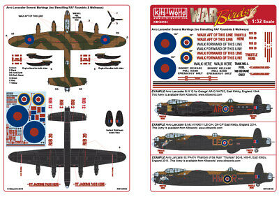 TAMIYA DECALS 1 PART ONLY 1//48 SCALE AVRO LANCASTER B1//B3 KIT NO 6420