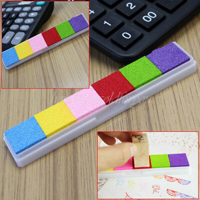 Non-toxic 6 Color Ink Pad Inkpad Stamp Finger Print Album Card-making Craft DIY