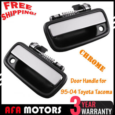 Chrome Exterior Outside Front Left Right Set Door Handle Fit 95-04 Toyota Tacoma