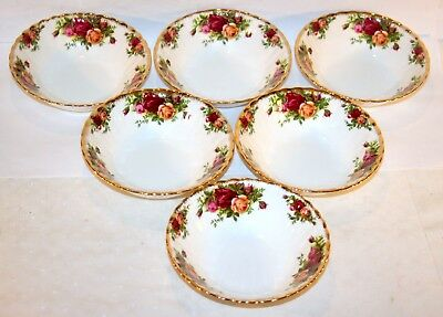Royal Albert * 6x Müsli-Schüssel 15,7cm Old Country Roses Gold China Bone 12518