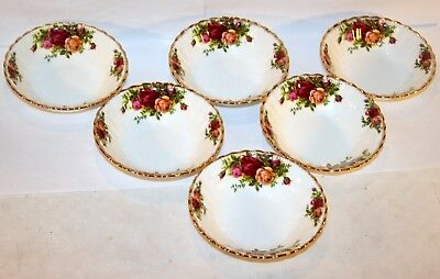 Royal Albert * 6x Salat-Schüssel 13,5cm Old Country Roses Gold China Bone 12519