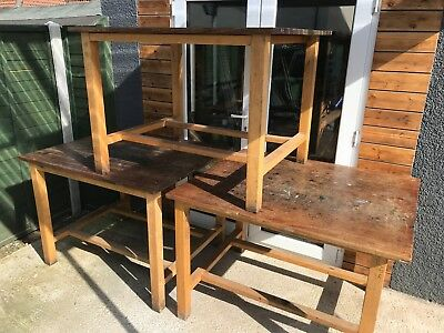 3 x Vintage School Science Lab Desks/Upcycle project/Kitchen Island