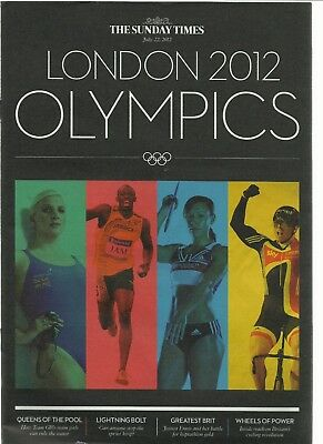 The London 2012 Olympic Games And Olympic Scrapbook Sunday Times  22.07.2012
