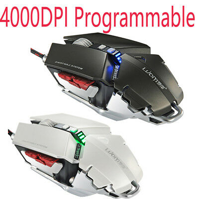 4000DPI 9D Wired Programmable Professional Optical Mechanical Gaming Mouse Mice